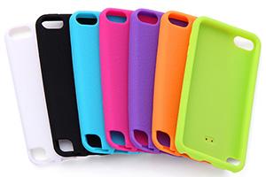 【iPod touch 第5世代(2012)/第5世代 16GB(2014)/第6世代(2015)/第7世代(2019)】スリップガード・シリコンジャケット