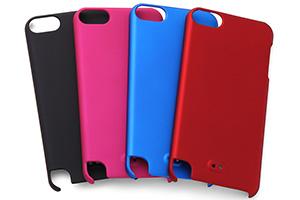 【iPod touch 第5世代(2012)/第5世代 16GB(2014)/第6世代(2015)/第7世代(2019)】ラバーコーティング・シェルジャケット
