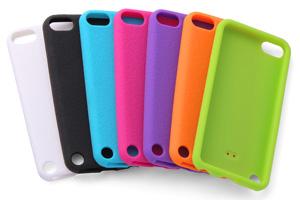【Apple 5th iPod touch(2012)/5th iPod touch 16GB(2014)/6th iPod touch(2015)】スリップガード・シリコンジャケット