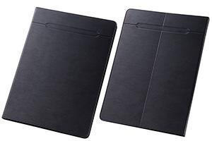 【Lサイズ(10.0-10.6inch程度のタブレット) 最大推奨サイズ たて280mm よこ190mm 厚さ13mm ※タブレット本体の仕様・形状・素材等によっては、うまく貼りつかない場合があります。予めご了承ください。】汎用スリムレザーケース Lサイズ(合皮)