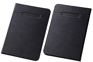 【Sサイズ(7.0-7.9inch程度のタブレット)  最大推奨サイズ たて207mm よこ135mm 厚さ11mm ※タブレット本体の仕様・形状・素材等によっては、うまく貼りつかない場合があります。予めご了承ください。】汎用スリムレザーケース Sサイズ(合皮)