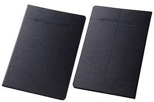 【XLサイズ(11.0-12.0inch程度のタブレット) 最大推奨サイズ:縦305mm 横205mm 厚さ15mm ※タブレット本体の仕様・形状・素材等によっては、うまく貼りつかない場合があります。予めご了承ください。】汎用スリムレザーケース XLサイズ(合皮)