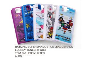 【docomo ARROWS X F-02E】バットマン、スーパーマン、トゥイーティー、トム&ジェリー、ジャスティスリーグ コレジャナイ・キャラクター・シェルジャケット
