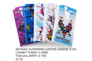 【docomo ARROWS V F-04E】バットマン、スーパーマン、トゥイーティー、トム&ジェリー、ジャスティスリーグ コレジャナイ・キャラクター・シェルジャケット