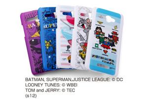 【au HTC J butterfly HTL21】バットマン、スーパーマン、トゥイーティー、トム&ジェリー、ジャスティスリーグ コレジャナイ・キャラクター・シェルジャケット