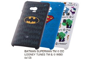 【au HTC J One HTL22】バットマン、スーパーマン、トゥイーティー・キャラクター・シェルジャケット