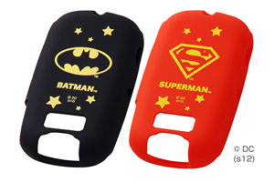 【docomo キッズケータイ HW-01D】バットマン、スーパーマン・キャラクター・シリコンジャケット