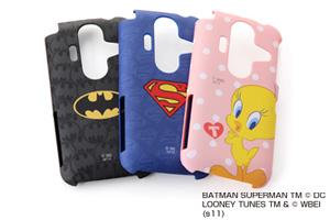 【AQUOS PHONE au by KDDI IS12SH】バットマン、スーパーマン、トゥイーティーキャラクター・シェルジャケット