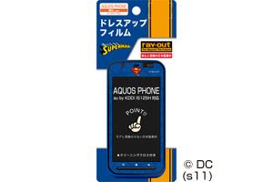 【AQUOS PHONE au by KDDI IS12SH】バットマン、スーパーマン、トゥイーティー・ドレスアップフィルム