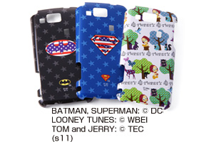 【au AQUOS PHONE CL IS17SH/AQUOS PHONE IS13SH】バットマン、スーパーマン、トゥイーティー・キャラクター・シェルジャケット