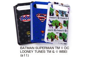 【au by KDDI ARROWS Z ISW11F】バットマン、スーパーマン、トゥイーティー・キャラクター・シェルジャケット