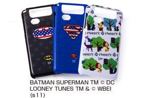 【au by KDDI DIGNO ISW11K】バットマン、スーパーマン、トゥイーティー・キャラクター・シェルジャケット