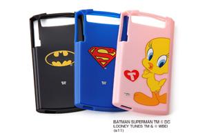 【MEDIAS WP docomo N-06C】バットマン、スーパーマン、トゥイーティーキャラクター・ソフトジャケット