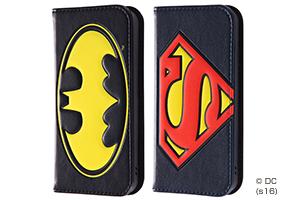【Apple iPhone SE/iPhone 5s/iPhone 5】バットマン スーパーマン 手帳型ケース ポップアップ