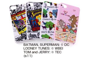 【Apple iPhone 4S、iPhone 4】バットマン、スーパーマン、トゥイーティー、ジェリーとリトルフレンズ・キャラクター・シェルジャケット