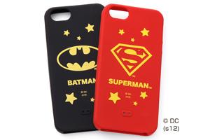 【Apple iPhone SE/iPhone 5s/iPhone 5】バットマン、スーパーマン・キャラクター・シリコンジャケット