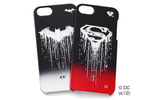 【Apple iPhone SE/iPhone 5s/iPhone 5】バットマン、スーパーマン・キャラクター・グラデーション・シェルジャケット