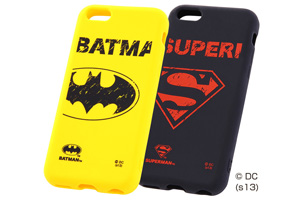 【Apple iPhone 5c】バットマン、スーパーマン・キャラクター・シリコンジャケット