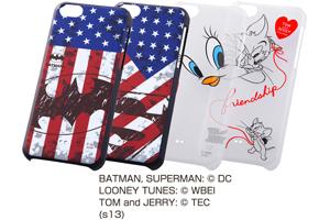 【Apple iPhone 5c】バットマン、スーパーマン、トゥイーティー、トム&ジェリー・キャラクター・シェルジャケット