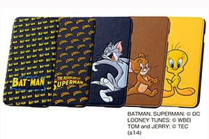 【Apple iPhone 6 Plus/iPhone 6s Plus】バットマン、スーパーマン、トム、ジェリー、トゥイーティー・ポップアップ・ブックカバータイプ・レザージャケット(合皮タイプ)
