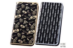 【Apple iPhone 6/iPhone 6s】バットマン、スーパーマン・メタルブックレザーケース(合皮)