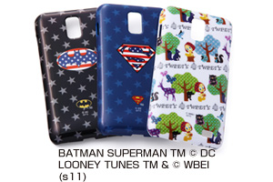 【docomo GALAXY S II LTE SC-03D】バットマン、スーパーマン、トゥイーティー・キャラクター・シェルジャケット
