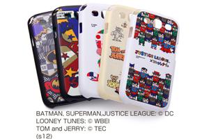 【docomo GALAXY S III α SC-03E / GALAXY S III SC-06D】バットマン、スーパーマン、トゥイーティー、トム&ジェリー、ジャスティスリーグ コレジャナイ・キャラクター・シェルジャケット