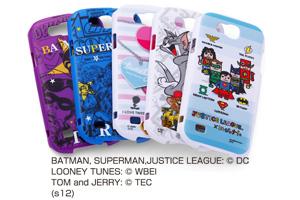 【au GALAXY S III Progre SCL21】バットマン、スーパーマン、トゥイーティー、トム&ジェリー、ジャスティスリーグ コレジャナイ・キャラクター・シェルジャケット