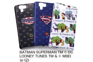 【docomo AQUOS PHONE SH-01D/SoftBank AQUOS PHONE 102SH、102SHII】バットマン、スーパーマン、トゥイーティー・キャラクター・シェルジャケット