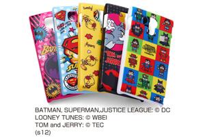 【docomo AQUOS PHONE si SH-01E】バットマン、スーパーマン、トゥイーティー、トム&ジェリー、ジャスティスリーグ コレジャナイ・キャラクター・シェルジャケット