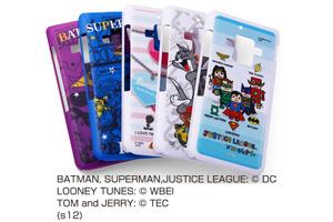 【docomo AQUOS PHONE ZETA SH-02E】バットマン、スーパーマン、トゥイーティー、トム&ジェリー、ジャスティスリーグ コレジャナイ・キャラクター・シェルジャケット