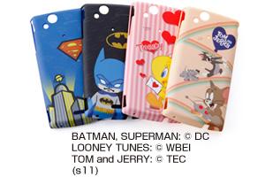 【Xperia™ arc】スーパーマン、バットマン、トゥイーティー、トムとジェリーキャラクター・シェルジャケット