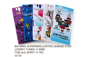 【Xperia? Z】バットマン、スーパーマン、トゥイーティー、トム&ジェリー、ジャスティスリーグ コレジャナイ・キャラクター・シェルジャケット