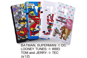 【Xperia™  acro HD】バットマン、スーパーマン、トゥイーティー、ジェリーとリトルフレンズ・キャラクター・シェルジャケット