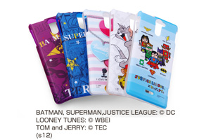 【Xperia™ VL】バットマン、スーパーマン、トゥイーティー、トム&ジェリー、ジャスティスリーグ コレジャナイ・キャラクター・ソフトジャケット