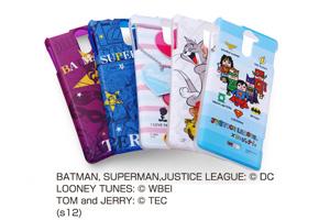 【Xperia? VL】バットマン、スーパーマン、トゥイーティー、トム&ジェリー、ジャスティスリーグ コレジャナイ・キャラクター・ソフトジャケット