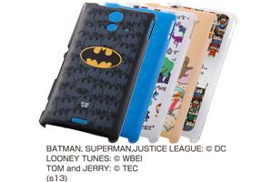 【Xperia™ UL】バットマン、スーパーマン、トゥイーティー、ジェリーとリトルフレンズ、ジャスティスリーグ コレジャナイ・キャラクター・シェルジャケット