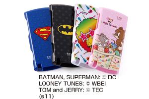 【NW-S760/S760K/S760BTシリーズ】スーパーマン、バットマン、トゥイーティー、ジェリーとリトルフレンズ・キャラクター・ハードジャケット