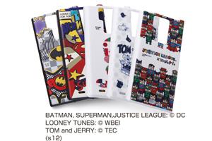【docomo REGZA Phone T-02D/ARROWS A SoftBank 101F】バットマン、スーパーマン、トゥイーティー、トム&ジェリー、ジャスティスリーグ コレジャナイ・キャラクター・シェルジャケット