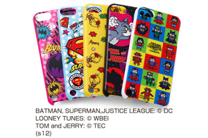 【Apple 5th iPod touch(2012)/5th iPod touch 16GB(2014)/6th iPod touch(2015)】バットマン、スーパーマン、トゥイーティー、トム&ジェリー、ジャスティスリーグ コレジャナイ・キャラクター・シェルジャケット