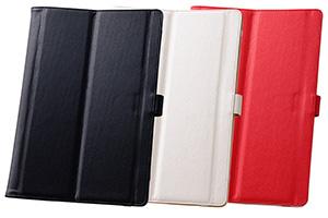 【Xperia? Z4 Tablet】マルチ・スリムブックレザーケース(合皮)