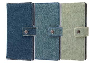 【Xperia™ XZ/Xperia™ XZs】手帳型ケース ファブリック デニム ポケット
