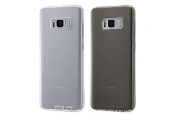 【docomo Galaxy S8+ SC-03J/au Galaxy S8+ SCV35】TPUソフトケース コネクタキャップ付き