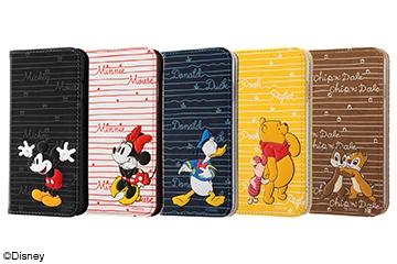 【Apple iPhone 8/iPhone 7】ディズニーキャラクター/手帳型ケース スタンディング カーシヴ