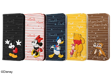 【Apple iPhone SE(第2世代)/iPhone 8/iPhone 7】ディズニーキャラクター/手帳型ケース スタンディング カーシヴ