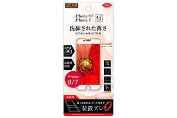 【Apple iPhone SE(第2世代)/iPhone 8/iPhone 7/iPhone 6s/iPhone 6】液晶保護フィルム 指紋防止 薄型 高光沢