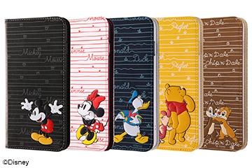 【Apple iPhone 8 Plus/iPhone 7 Plus】ディズニーキャラクター/手帳型ケース スタンディング カーシヴ