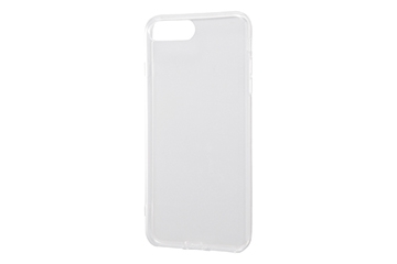 【Apple iPhone 8 Plus/iPhone 7 Plus】TPUソフトケース コネクタキャップ付き