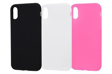 【Apple iPhone X】シリコンケース シルキータッチ