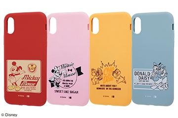 【Apple iPhone X】ディズニーキャラクター/シリコンケース
